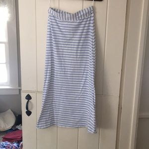 J.Crew blue and white maxi skirt, size xs